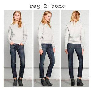 NWT Rag & Bone Dark Rinse Raw Hem Cropped Jeans